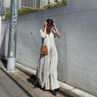 シールームリン(SeaRoomlynn)のSearoomlynnカシュクールリネン刺繍ドレス(ロングワンピース/マキシワンピース)