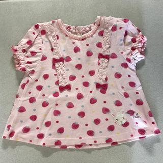 クーラクール(coeur a coeur)の※専用クーラクール 苺柄Tシャツハーフパンツ80セット(Tシャツ)