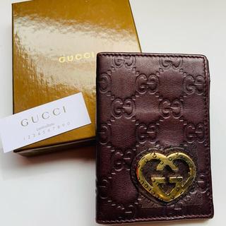 Gucci - グッチ ラブリー パスケース レザー GUCCI LOVELY パープル