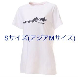 マムート(Mammut)のほぼ新品 マムート mammut 半袖Tシャツ Sサイズ ホワイト(Tシャツ(半袖/袖なし))