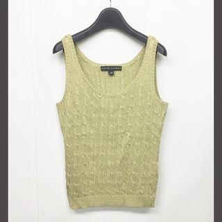 ラルフローレン(Ralph Lauren)のラルフローレン ブラックレーベル ニットタンク ケーブル編み 金 ゴールド M(タンクトップ)