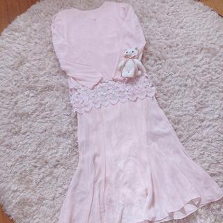 スピンズ(SPINNS)の今週限定 レア baby pink onepiece(ロングワンピース/マキシワンピース)