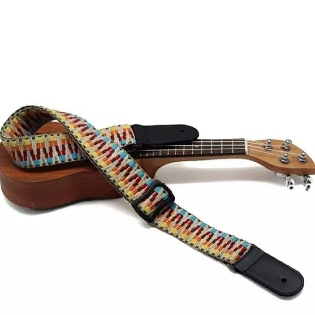 レトロな民族柄のウクレレ用ストラップ 楽器のウクレレ(その他)の商品写真