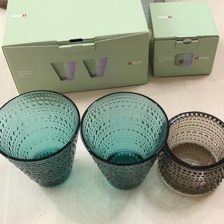 イッタラ(iittala)の新品未使用 iittala イッタラ ペアグラスグラス キャンドルホルダー(グラス/カップ)