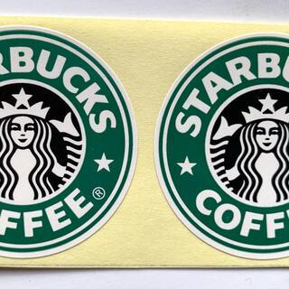 スターバックスコーヒー(Starbucks Coffee)のスターバックス ロゴ ステッカー ラベル 2枚(ノベルティグッズ)