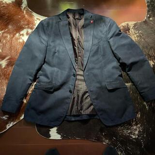 ザラ(ZARA)のZARA MEN 紺スエードテーラードジャケット(テーラードジャケット)