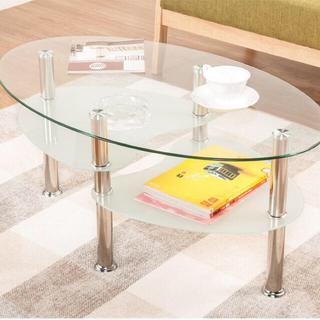 フランフラン(Francfranc)のガラステーブル♡ダイニングテーブル(ダイニングテーブル)