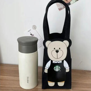 スターバックスコーヒー(Starbucks Coffee)の台湾スターバックス 台湾限定 ベアリスタ ドリンクバッグ タンブラーバッグ(ハンドバッグ)