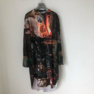 コムデギャルソンオムプリュス(COMME des GARCONS HOMME PLUS)のコムデギャルソンオムプリュス転写プリントロング丈Tシャツ(Tシャツ/カットソー(七分/長袖))