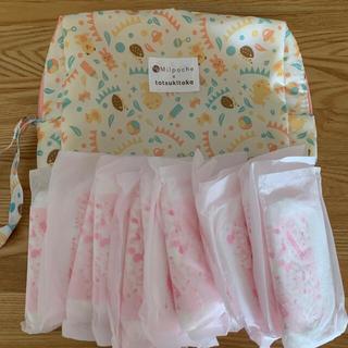 アカチャンホンポ(アカチャンホンポ)の母乳パット15枚とオムツポーチのセット(母乳パッド)