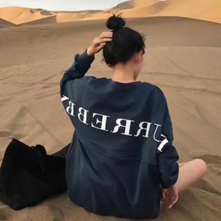 スタイルナンダ(STYLENANDA)の韓国ファッション♡オーバーサイズ ビッグ ロンT ロングTシャツ ストリート(Tシャツ/カットソー(七分/長袖))