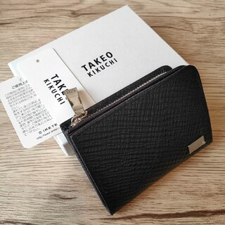 タケオキクチ(TAKEO KIKUCHI)のタケオキクチ 牛革 新品未使用 小銭入れ 濃紺 10000円の品(コインケース/小銭入れ)