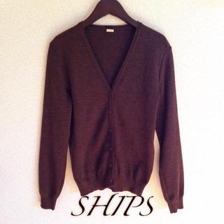 シップス(SHIPS)の美品 シップス Vネックカーディガン(ニット/セーター)