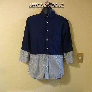 シップスジェットブルー(SHIPS JET BLUE)のSHIPS JET BLUEシップス♡メンズ光沢バイカラーシャツ(シャツ)