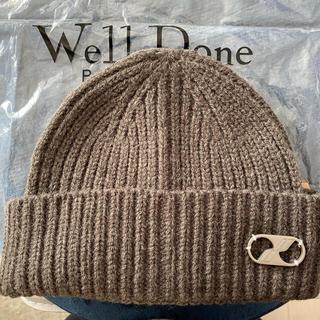 ピースマイナスワン(PEACEMINUSONE)のwe11done ビーニー ニット帽 peaceminusone (ニット帽/ビーニー)
