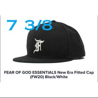 フィアオブゴッド(FEAR OF GOD)のNEW ERA x ESSENTIALS Cap black  7 3/8(キャップ)