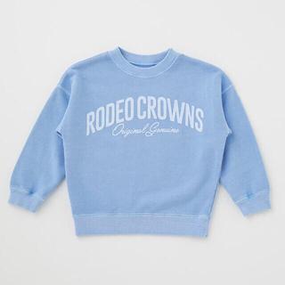 ロデオクラウンズワイドボウル(RODEO CROWNS WIDE BOWL)の☆RODEO CROWNS WIDE BOWL キッズピグメントパッチスウェット(Tシャツ/カットソー)