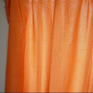 ニッセン(ニッセン)のニッセン 洗えるカーテン オレンジ(カーテン)