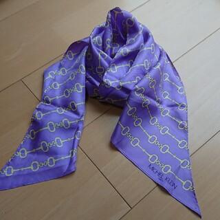 ミッシェルクラン(MICHEL KLEIN)の値下げ  新品  ミッシェルクラン シルク スカーフ(バンダナ/スカーフ)