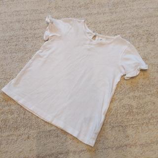 エイチアンドエム(H&M)の袖フリルTシャツ(Tシャツ/カットソー)