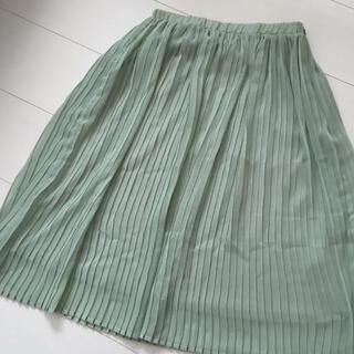 ムルーア(MURUA)のムルーア プリーツスカート ミントグリーン(ひざ丈スカート)