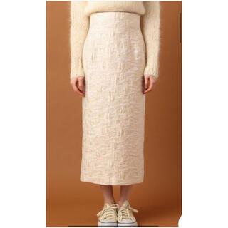 デイシー(deicy)のdeicy フラワーラメJQタイトスカート ピンク 花柄 ロングスカート(ロングスカート)