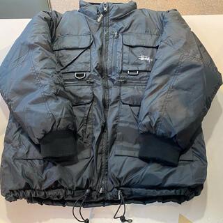STUSSY - 90s OLD STUSSY フィッシング ダウンジャケット リバーシブル M