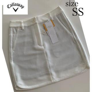 キャロウェイ(Callaway)の《新品》Callaway UPF30/裏地付き ホワイトスカート SS(ウエア)