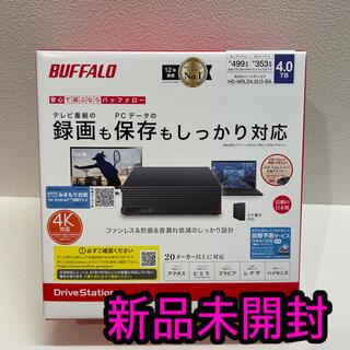 バッファロー(Buffalo)の外付けHDD 4TB BUFFALO HD-NRLD4.0U3-BA 新品未開封(PC周辺機器)