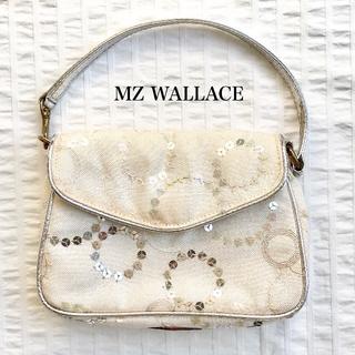 エムジーウォレス(MZ WALLACE)のMZ WALLACE スパンコール ミニショルダー/白(ショルダーバッグ)