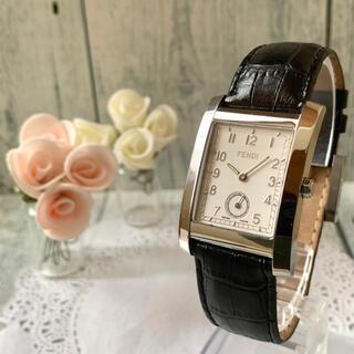 フェンディ(FENDI)の【動作OK】FENDI フェンディ 腕時計 7000G レクタンギュラ シルバー(腕時計(アナログ))