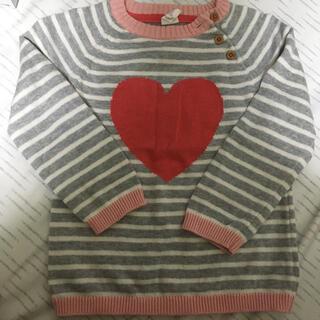 エイチアンドエム(H&M)のエイチアンドエム女の子H&Mニットセーター綿100%トップス長袖100サイズ(ニット)