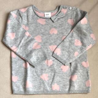 エイチアンドエム(H&M)のエイチアンドエムH&M女の子ニットセーター綿100%トップス長袖100サイズ(ニット)