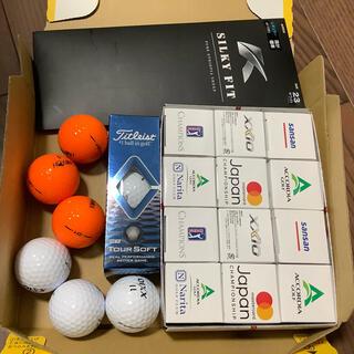 タイトリスト(Titleist)のゴルフボール21個(新18個、中古3個) と新品グローブ23cm お得セット(その他)