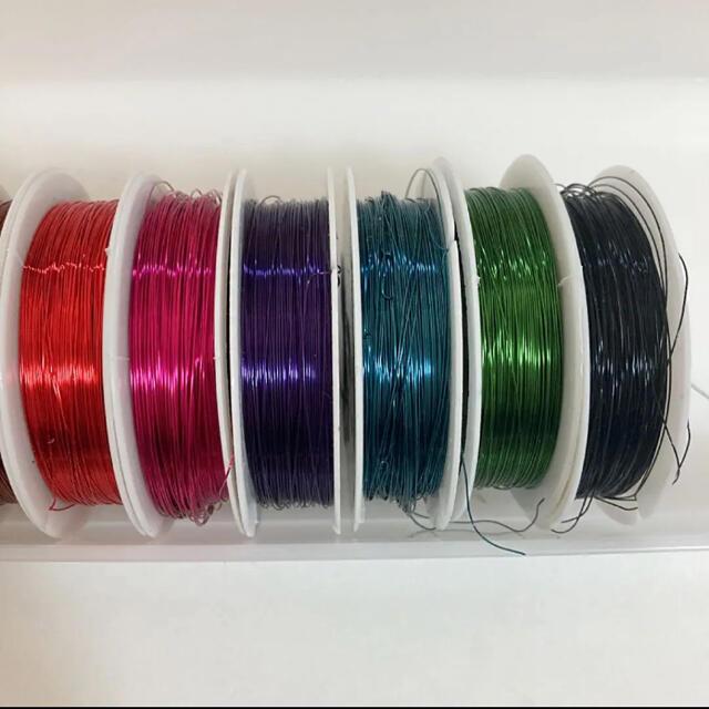 オルゴナイト  サンキャッチャー アクセサリー カラーワイヤー 10色 ハンドメイドの素材/材料(各種パーツ)の商品写真