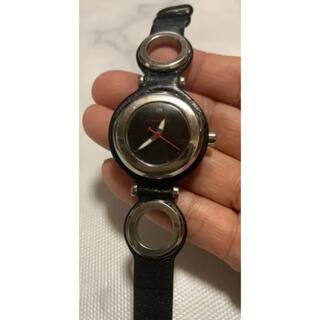 アルマンドバジ(Armand Basi)の《ARMAND BASI》ユニセックス腕時計・クオーツ・オールステンレス・黒革(レザーベルト)