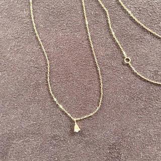 ココシュニック(COCOSHNIK)のcocoshnik ココシュニック K10 一粒ダイヤ ネックレス(ネックレス)