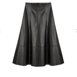 エムプルミエ(M-premier)のBLENHEIM フェイクレザーフレアロングスカート(ロングスカート)
