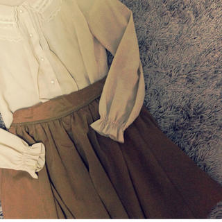 クリスプ(Crisp)のcrisp♡ブラウンフレアスカート(ミニスカート)