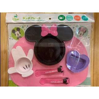 ディズニー(Disney)の錦化成 ミニーマウスアイコン ランチプレート 食事皿 プレート お子様ランチ(離乳食器セット)