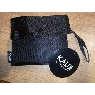 カルディ(KALDI)の【新品】KALDIエコバッグ ブラック(エコバッグ)