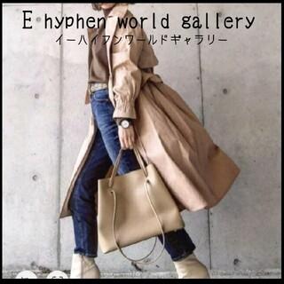 E hyphen world gallery - 新品未使用タグ付き♪可愛い★2way春コート ショートコート アース好きに