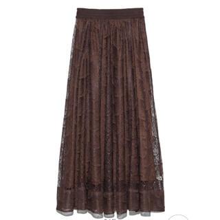 リリーブラウン(Lily Brown)のLily Brown バタフライレースロングスカート(ロングスカート)