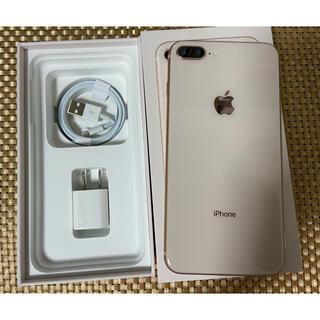 アイフォーン(iPhone)のiPhone 8 Plus Gold 64Gb Simフリーバッテリー100%(スマートフォン本体)