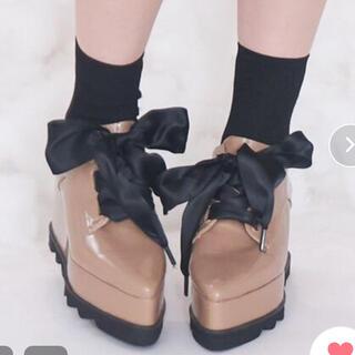 イートミー(EATME)のEATME 厚底マニッシュシューズ(ローファー/革靴)