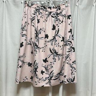 ニジュウサンク(23区)の新品 23区 スカート 48 花柄 ピンク 大きいサイズ(ひざ丈スカート)