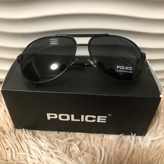 ポリス(POLICE)のポリスs8480 偏光グラス ティアドロップサングラス。新品未使用。(サングラス/メガネ)