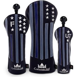 クラフトマン ゴルフヘッドカバー  星刺繍シリーズ  3個セット(1 F UT)(その他)