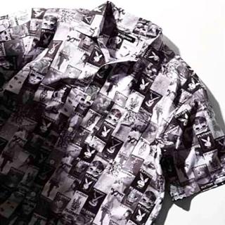 プレイボーイ(PLAYBOY)の★PLAYBOY 柄シャツ☆ ブラック&ホワイトカラー[★最終価格](シャツ)