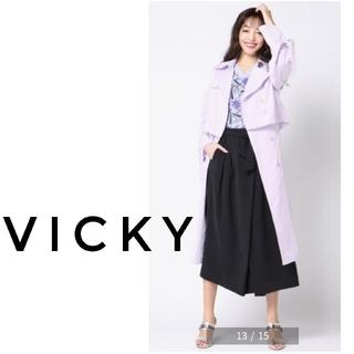 VICKY - VICKY 未使用 2WAYトレンチコート 袖リボン